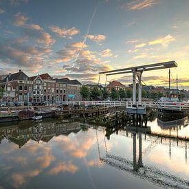 Thorbeckegracht Zwolle avec le pont Pelser sur Fotografie Ronald