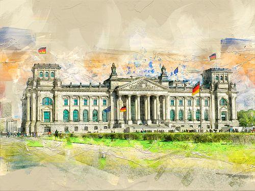 Berlin Reichstag van Peter Roder