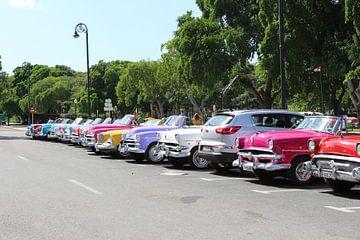 Oldtimer in Cuba van Wilma Hage