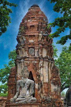 Mahathat Tempel in Ayutthaya van Bernd Hartner