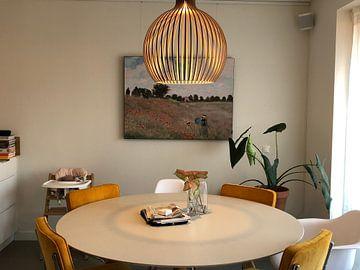 Kundenfoto: Das Mohnfeld in Argenteuil, Claude Monet