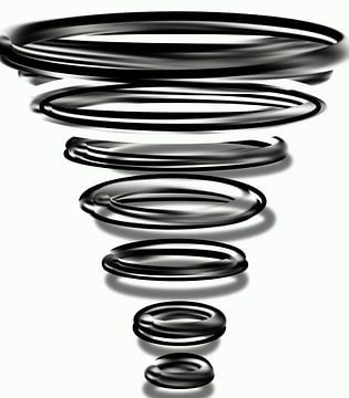 Zwarte Ringen Reflectie van Romana Vac