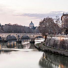 De Tiber in Rome van Jeroen Middelbeek