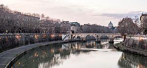De Tiber in Rome van