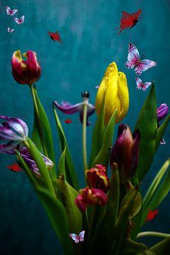 Uitgebloeid (tulpenserie 1van3) van Ellinor Creation