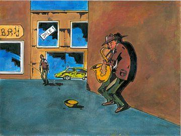 Spelen op de saxofoon von Rob Eikenaar