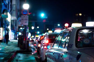 Taxi's in Japan van Meneer Bos