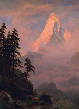 Albert Bierstadt-Zonsopgang op de Matterhorn