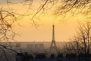 Zonsondergang Eiffeltoren vanaf Montmartre