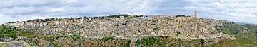 Panorama van Matera van Leopold Brix