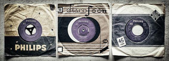 Trio Nostalgie. Drie vinylsingles in panorama.
