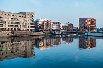 Blick auf die Holzhalbinsel in Rostock von Rico Ködder