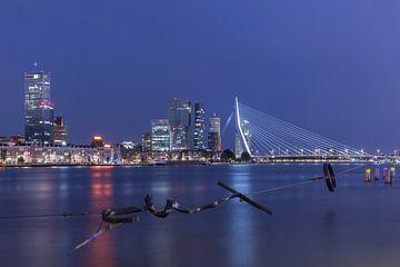 Das Maasbeeld mit Blick auf das Noordereiland in Rotterdam von MS Fotografie | Marc van der Stelt
