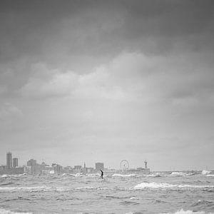 Utsikt over Scheveningen, zwart-wit van Yana Spiridonova