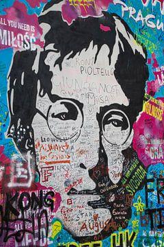 John Lennon aan de muur van Ton Tolboom