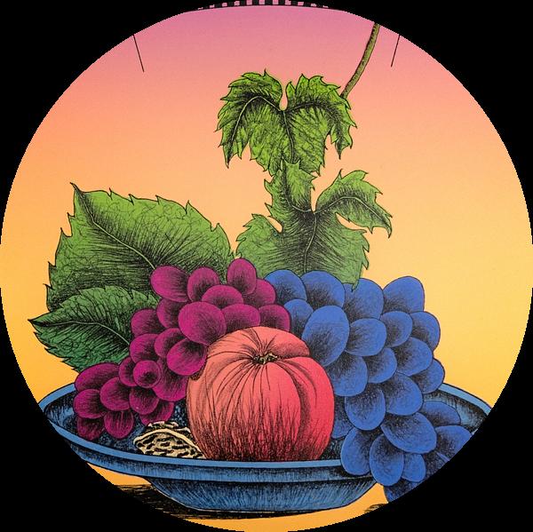 Fruitschaal Met Fruit van Helmut Böhm