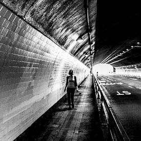 Licht in de tunnel met perspectief van Joris Louwes