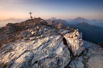 Alpen bei Sonnenaufgang von Frank Peters