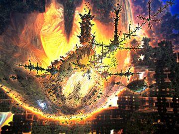 De brandende boom van de aliens van Frank Heinz