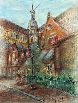 Oude Kerk in Haarlem van Ineke de Rijk