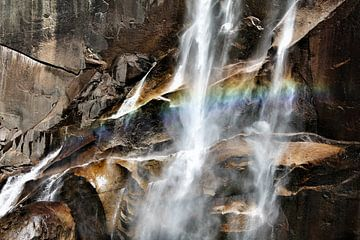 Yosemite - Waterfall van Christine Nöhmeier