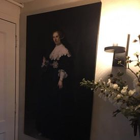 Klantfoto: Oopjen Coppit van Rembrandt van Rijn van Marieke de Koning, op canvas
