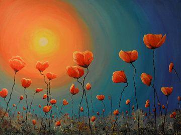 Klaprozen in de zon van Greta Lipman