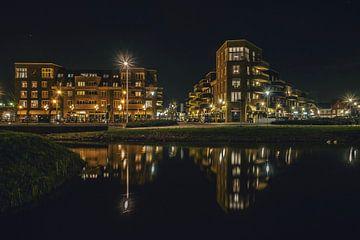 Berkel Westpolder Lansingerland by night van Catharina Bee