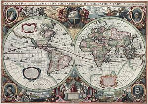 New Geographic and Hydrographic Map of the Whole World, 1630