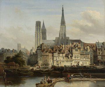 Der Pariser-Kai in Rouen, Johannes Bosboom