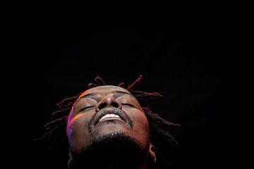 Portret Afrikaanse zanger van Ellis Peeters