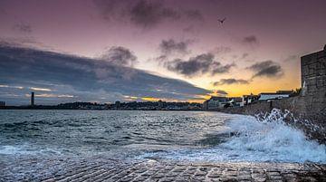 Sunset at Jersey Beach van Henry van Schijndel