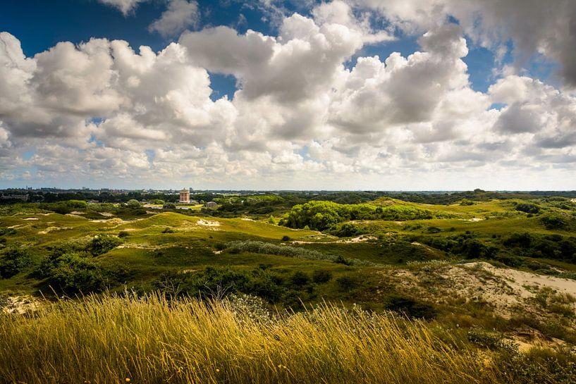 Uitzicht op de Watertoren van Katwijk van Martijn van der Nat