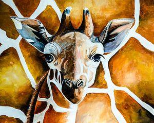 Giraffe von Angelique van den Berg