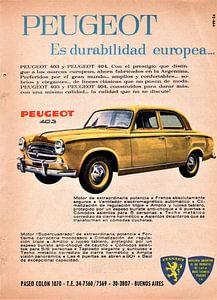 Peugeot 403 advertisement