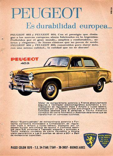 Peugeot 403 Werbung von Natasja Tollenaar