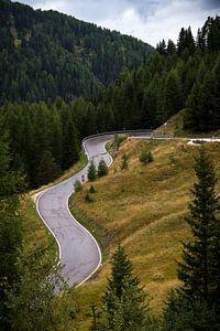 Slingerweg in de bergen