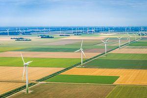 Luchtfotografie van een Nederlands landschap
