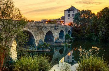 Alte Lahnbrücke, Limburg an der Lahn, Duitsland van Adelheid Smitt