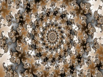Abstraktes Mandelbrot-Fraktal-Mandala von Maurice Dawson