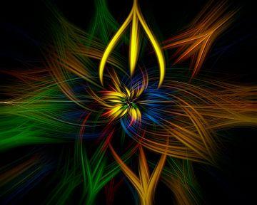 Colour twirls van Michael Nägele