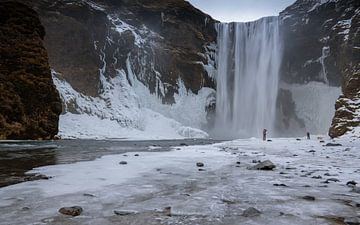 Skogafoss Waterval, IJsland, Europa van Alexander Ludwig