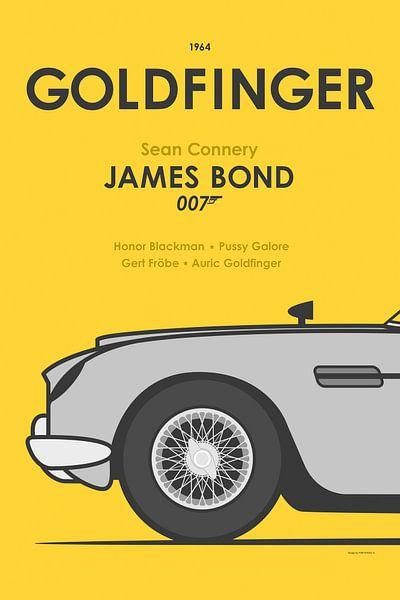 James Bond 007 Affiche met Aston Martin DB5 van Yuri Koole