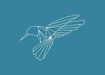 Kolibri - Grafische Tiere von Dieuwertje en Kevin van der Linden - Meijer
