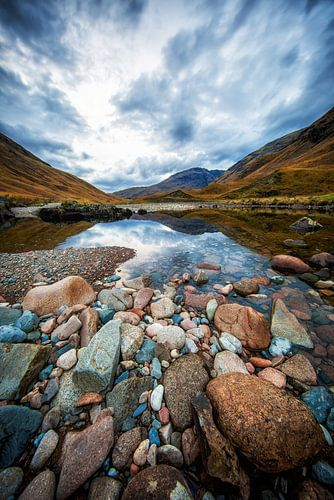 Near Loch Etive in Scotland van