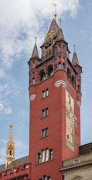 Toren van Raadhuis van Bazel in Zwitserland van Joost Adriaanse