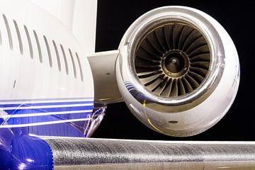 Jet privé de nuit (Bombardier Globall Express)