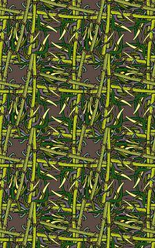 GRAFISCHE PRINT BAMBOE 4 van Marijke Mulder