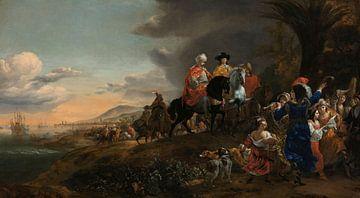 Der niederländische Botschafter auf dem Weg nach Esfahan, Jan Baptist Weenix