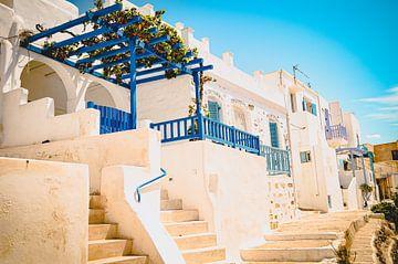 Traditionele Griekse huizen op Paros van Daphne Groeneveld